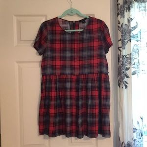 🍎Adorable Forever21 Loose Fit Plaid Dress